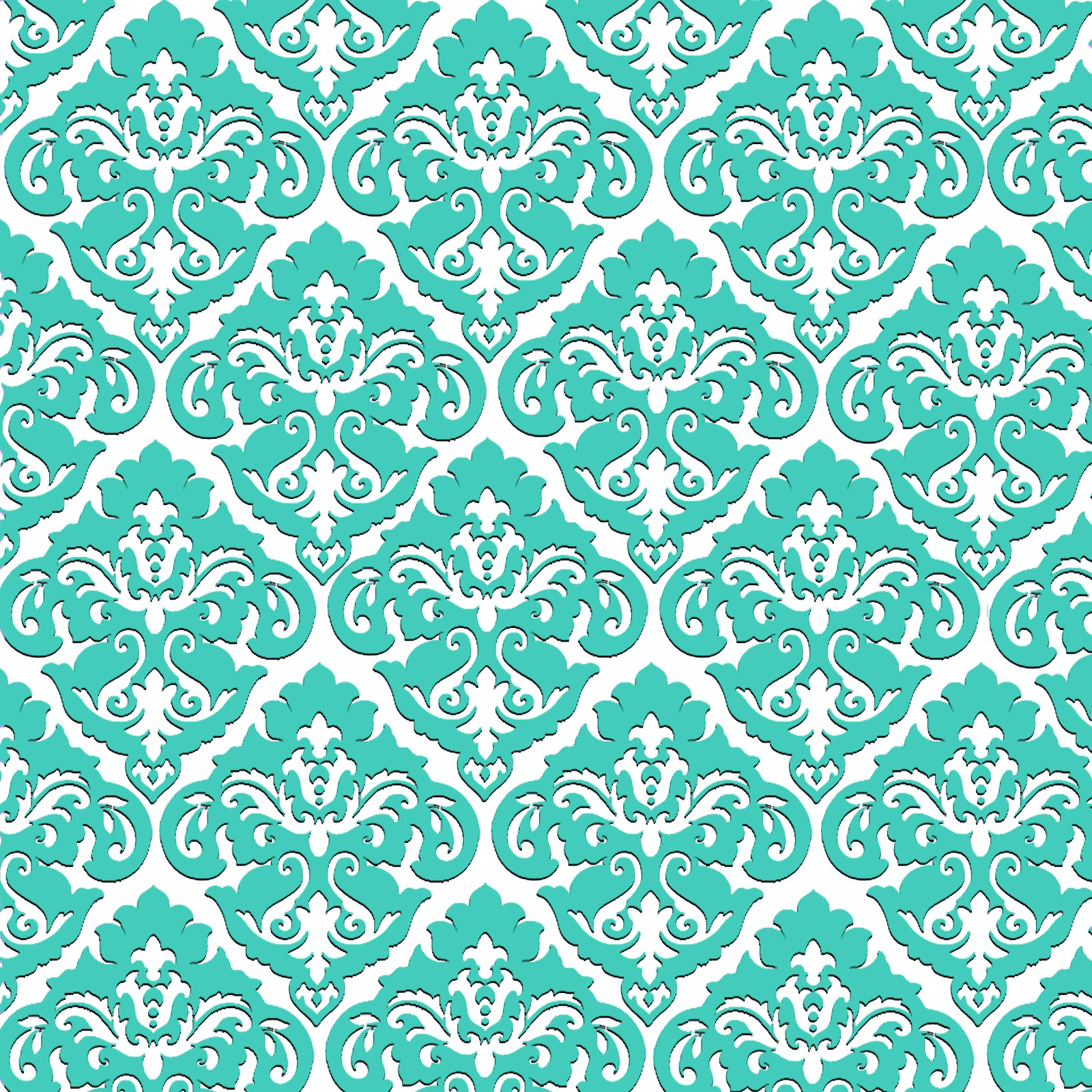 Doodlecraft damask my favorite for Teal wallpaper