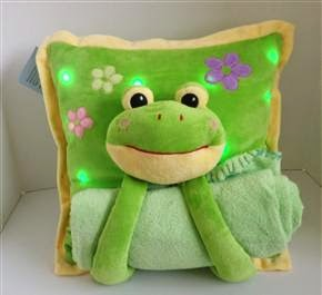 smiling frogging lullaby light up pillow style=