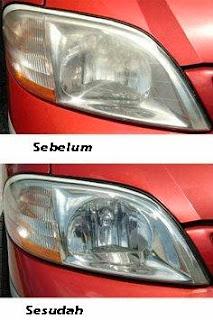 Cara Membersihkan Kaca Lampu Mobil Buram