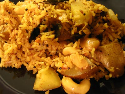Cashew Rice amongst Diced Potatoes