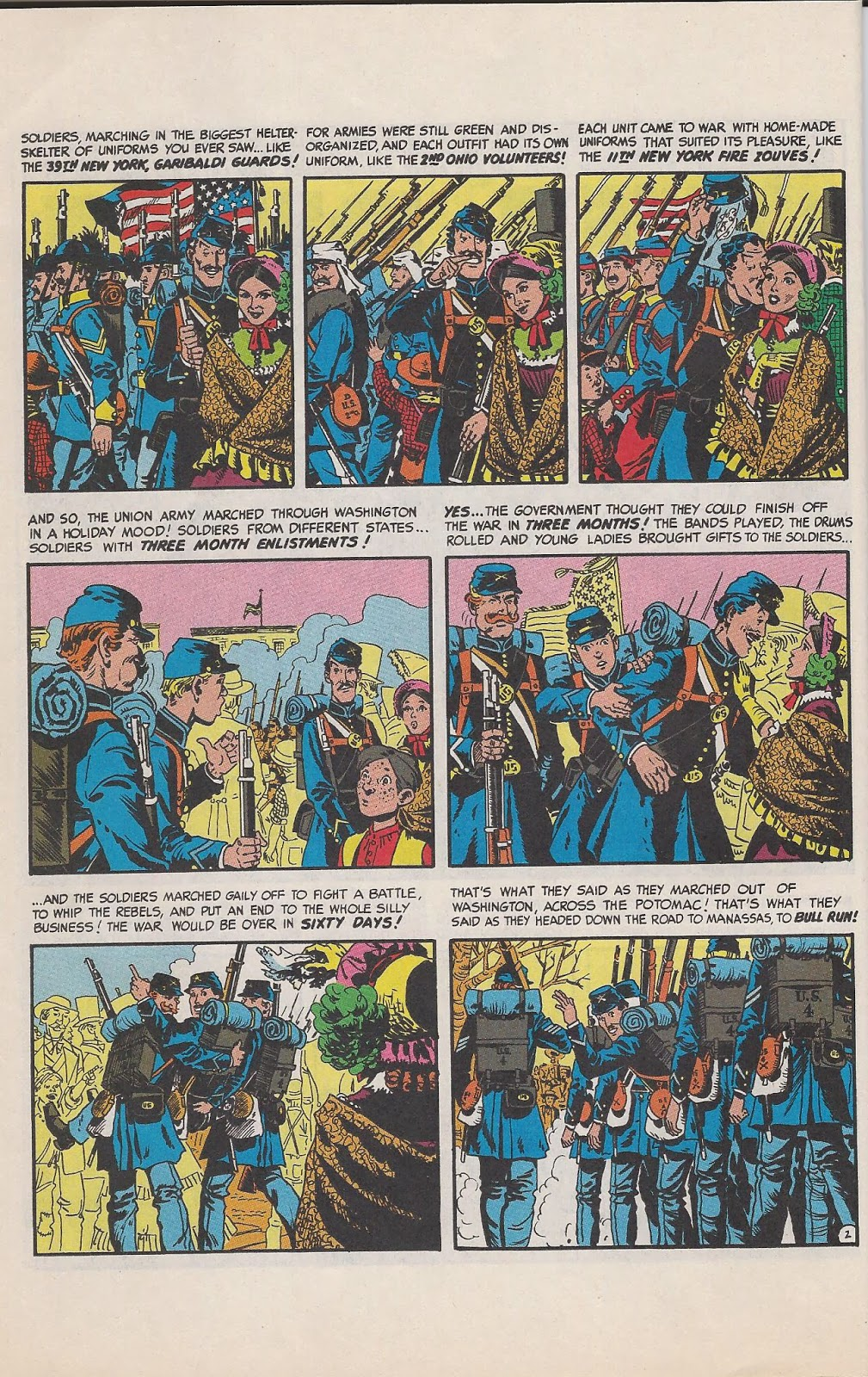 Art by John Severin, who lead the field of Civil War illustrating. The story was laid out by editor Harvey Kurtzman - of course history wrote it.