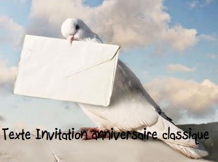 texte+anniversaire - TEXTE INVITATION ANNIVERSAIRE CLASSIQUE