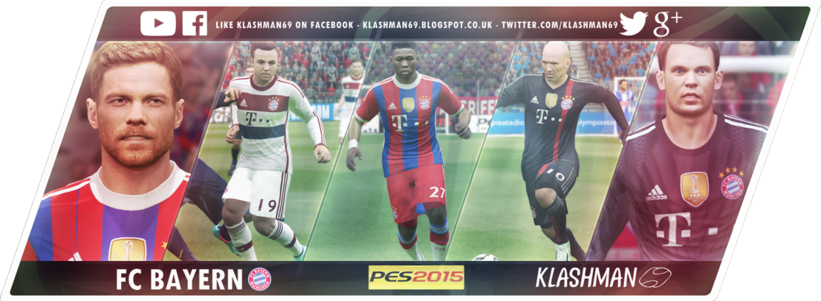 Kostum Bayern Munchen Terbaru untuk PES 2015