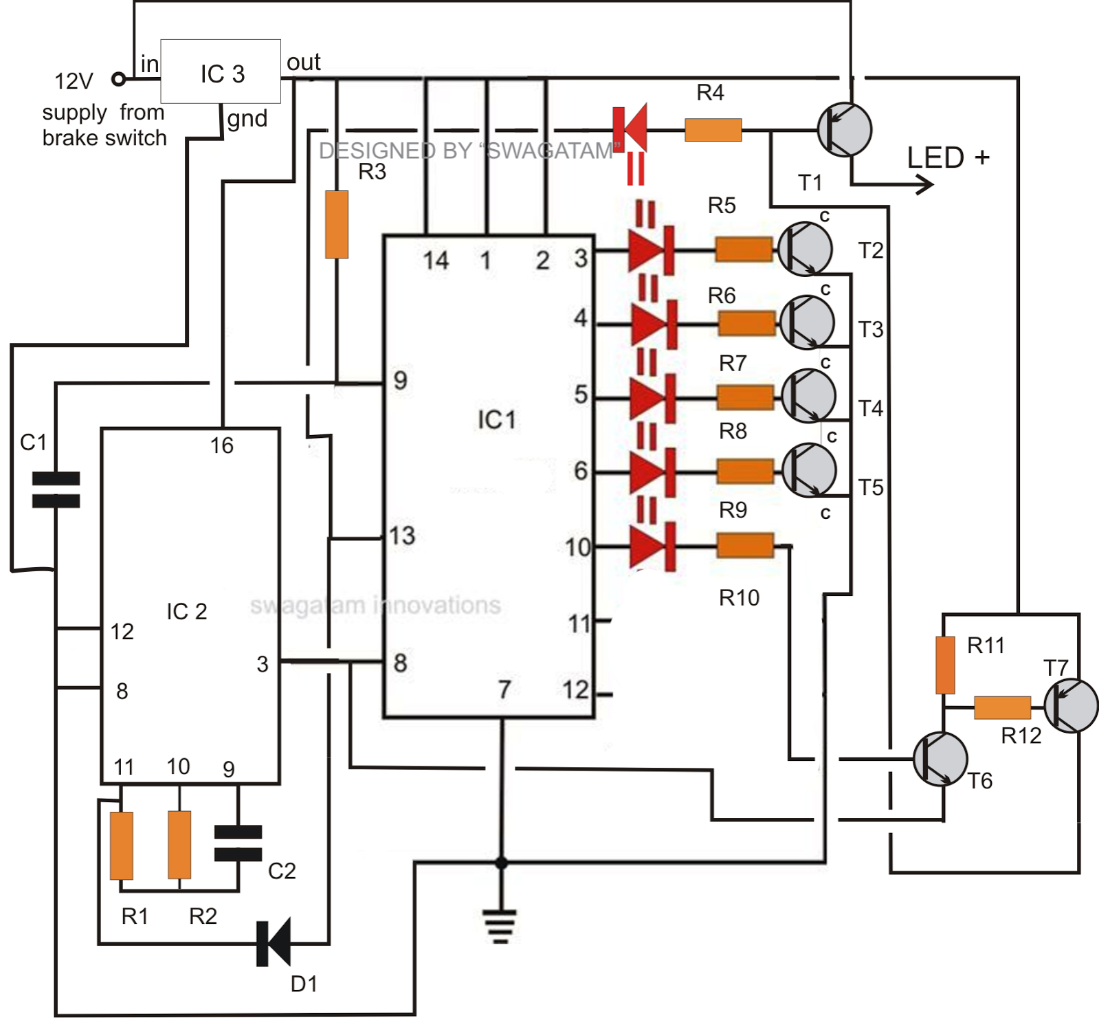 spyder led tail light wiring diagram