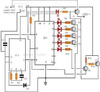 make this fancy led ring light circuit for your car wiring diagram reference