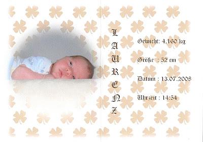 Baby Grusskarte