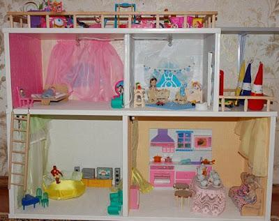 Как сделать стенку для кукол своими руками