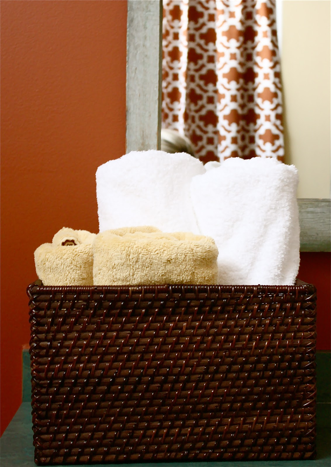 semicustom shower curtain trick
