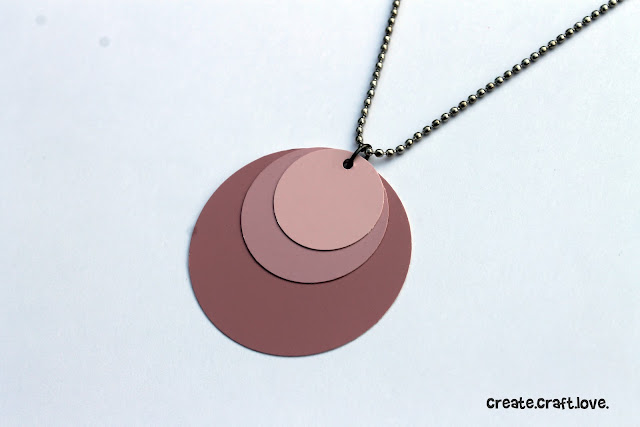 Ombre Paint Chip Necklace via createcraftlove.com #jewelry #paintchips