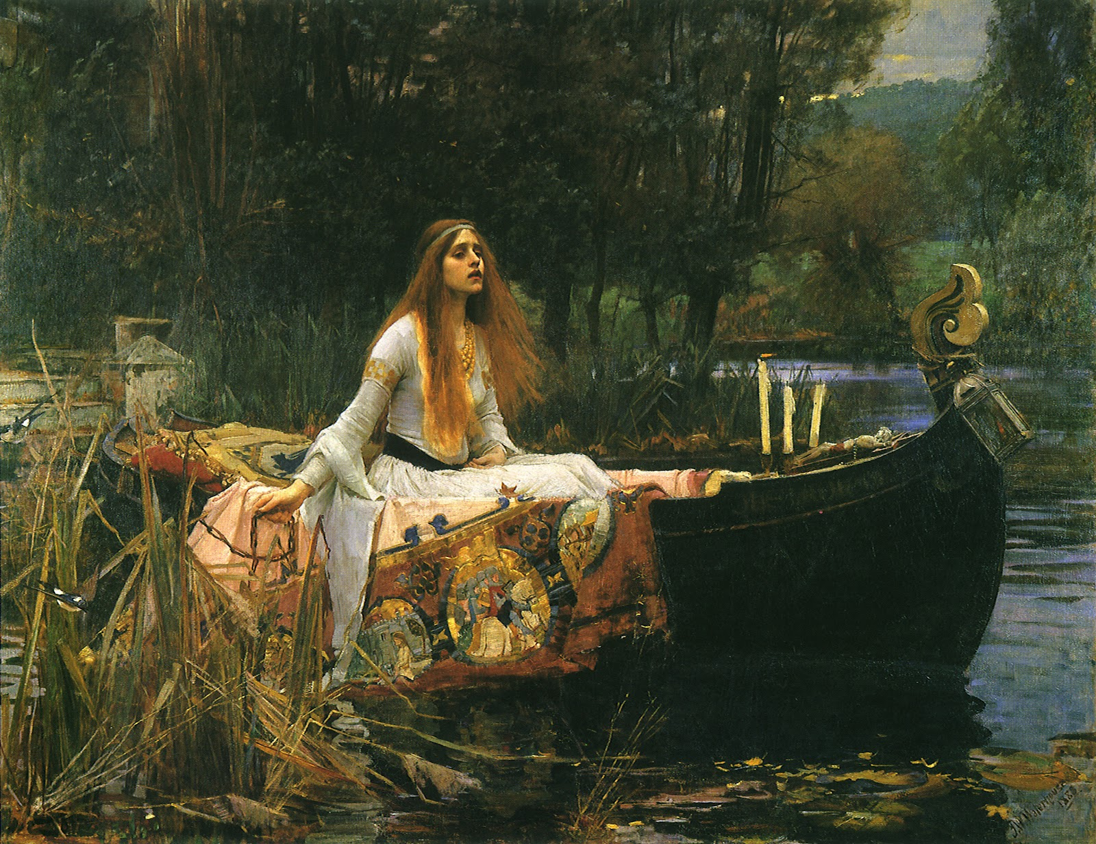 la memoria del arte la dama de shalott de john william waterhouse. Black Bedroom Furniture Sets. Home Design Ideas