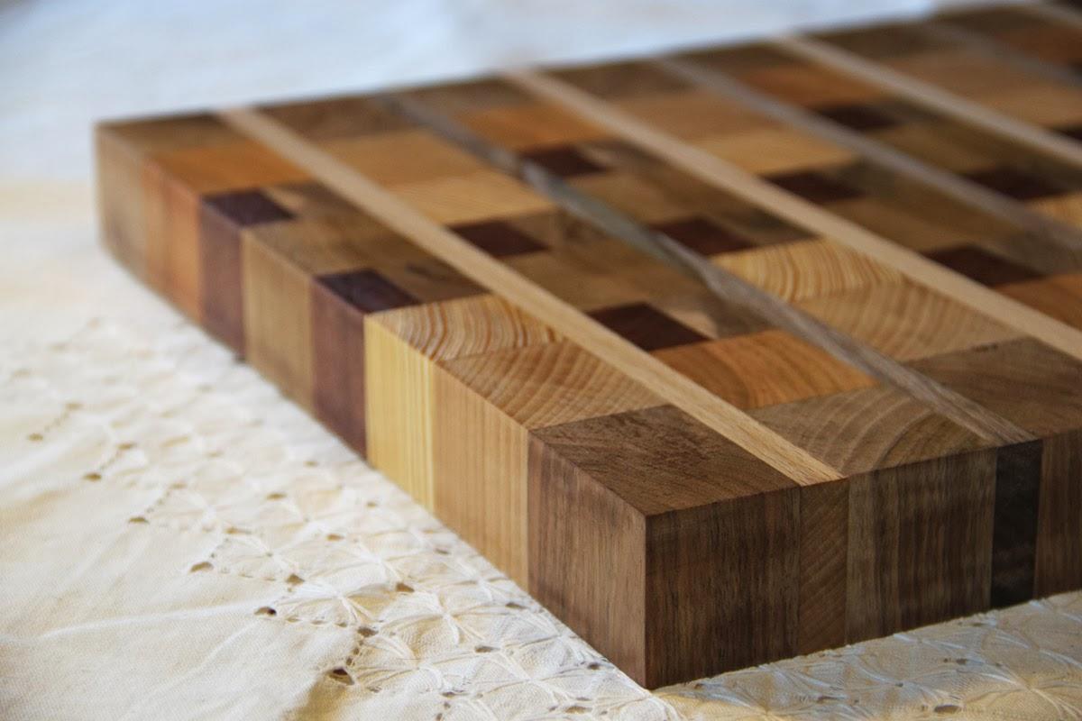 Marna workshop Billot en bois de bout composé de 7 essences nobles # Billot De Bois À Vendre