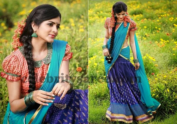 Ruffled Sleeves Silk Blouse