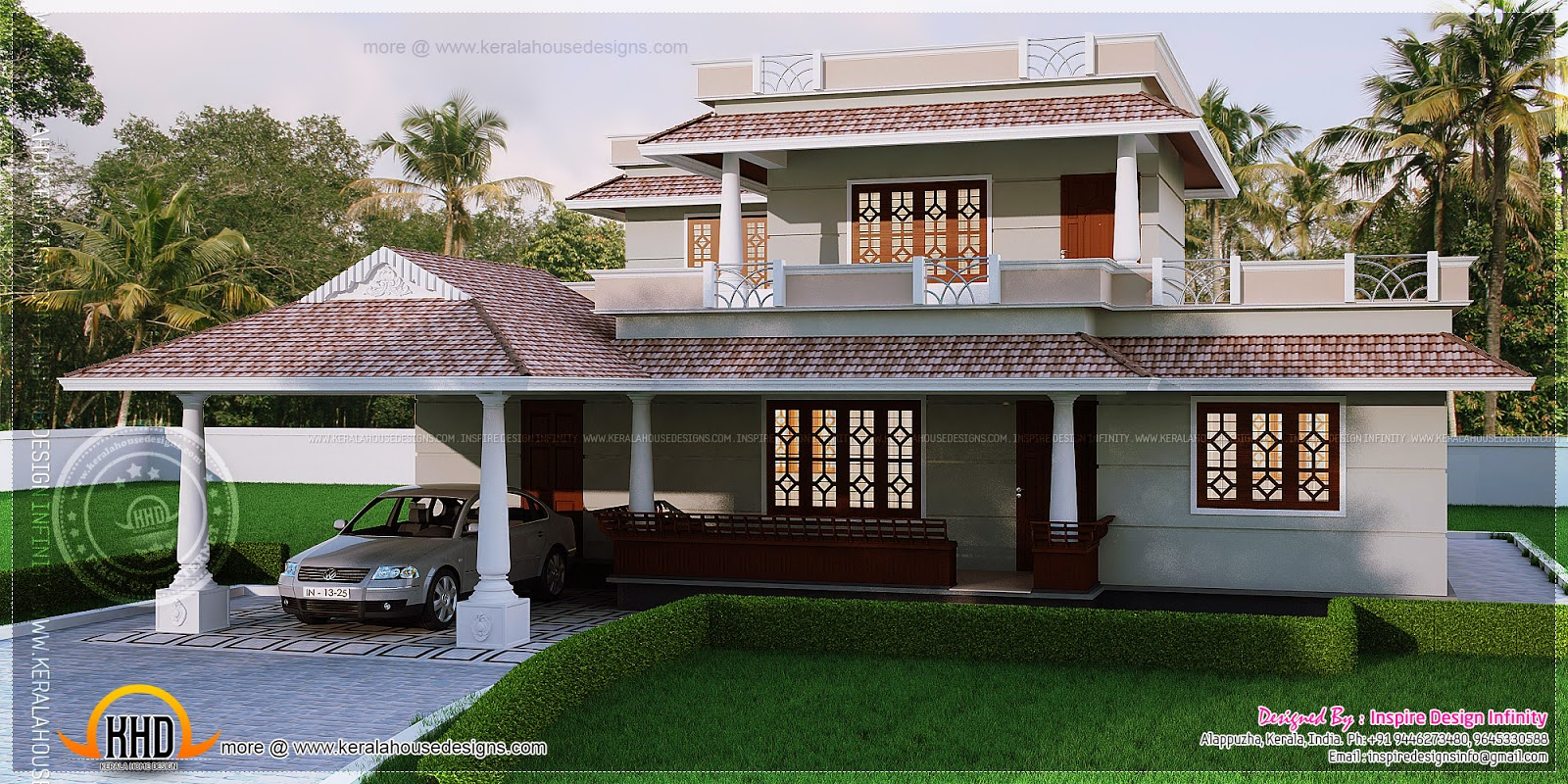 4 Bedroom Kerala Style House In 300 Square Yards