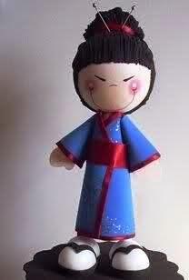 Fofuchas - Fofucha geisha