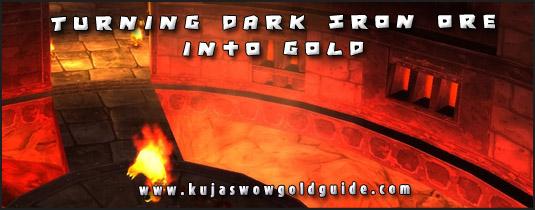 turning dark iron ore into bars