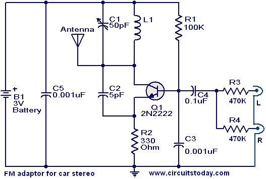 2n2222 fm adaptor circuit