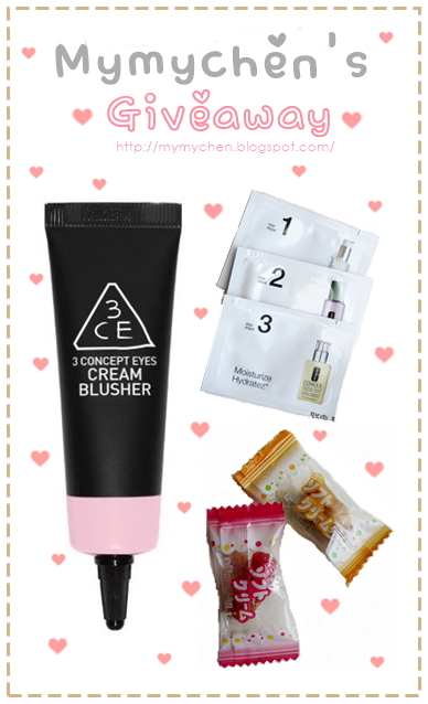 MYMYCHEN'S GIVEAWAY ♥