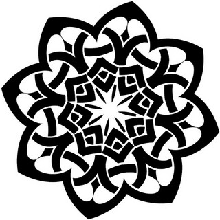 Image of a celtic tattoo design in the shape of a flower