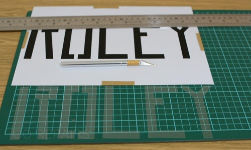 Cut out your stencil.