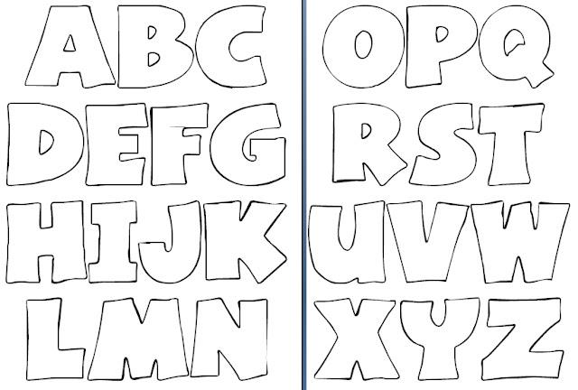 Molde de Letras - Fonte Basica