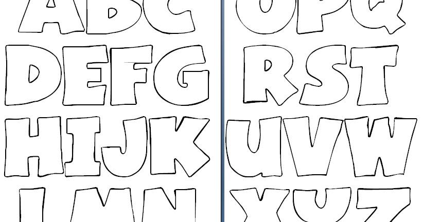 Conhecido Blog Professor Zezinho : Moldes de Letras MH01