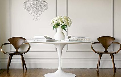 Steal Tulip Table