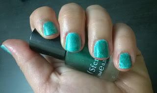 Manicura verde con degradado