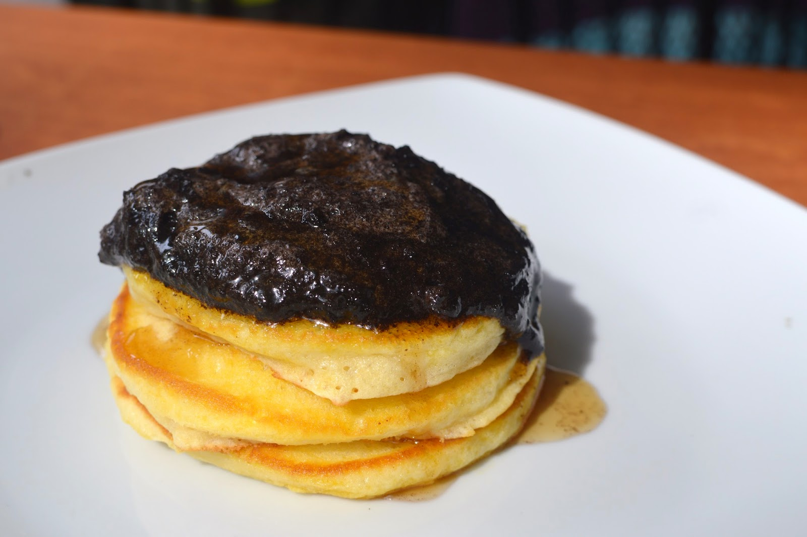 Fluffy Pancake topped with Oreo Cookie butter