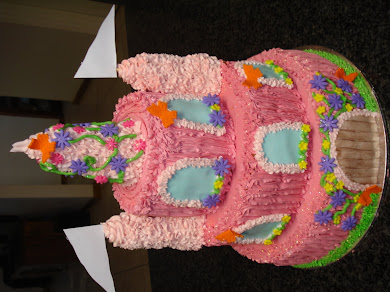 Pink Castle Cake