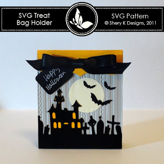 Free SVG Treat Bag Holder