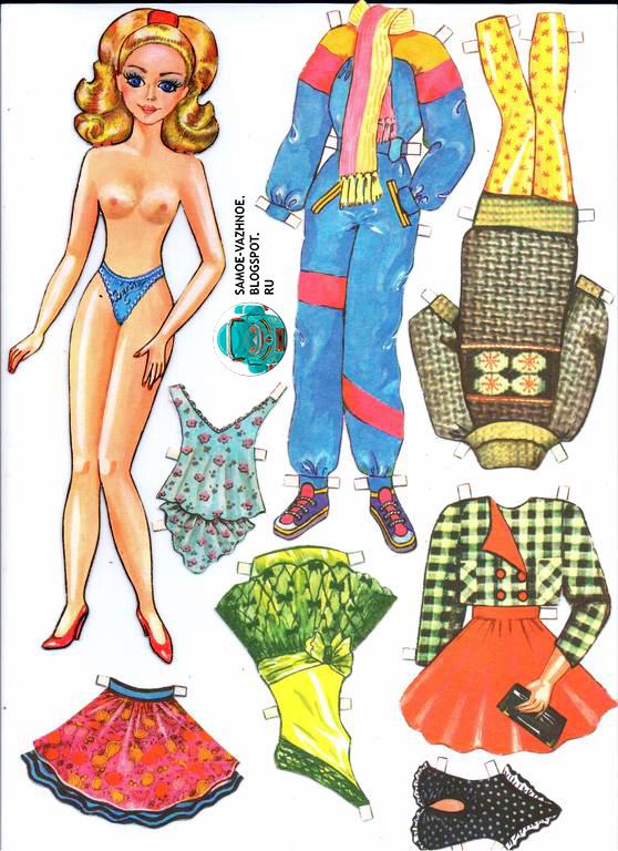 Бумажные куклы 1990ые