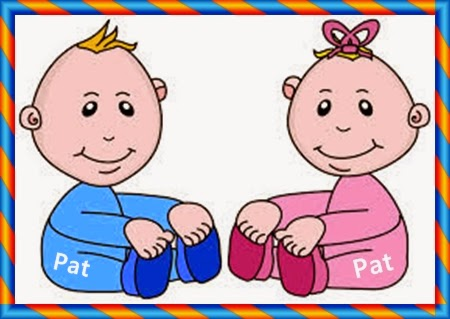 Baby boy and girl clip art