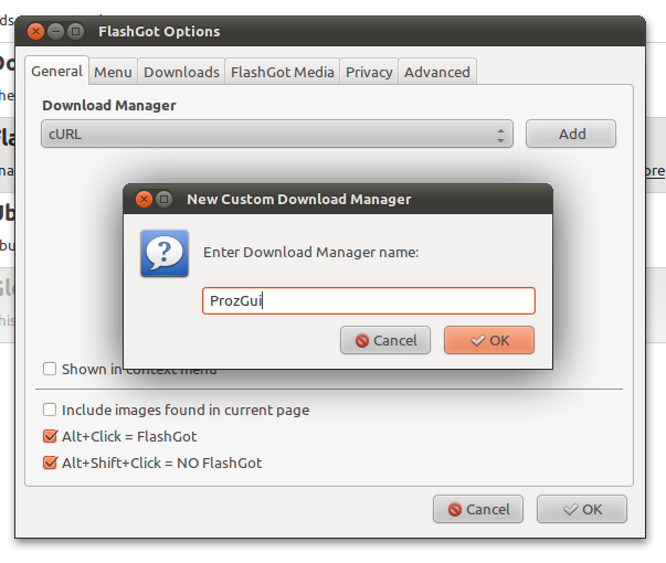 Menambahkan download manager baru