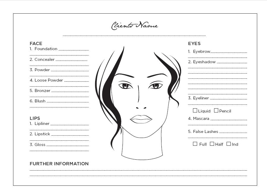 Blank Face For Makeup Print Blank Makeup Face Chart