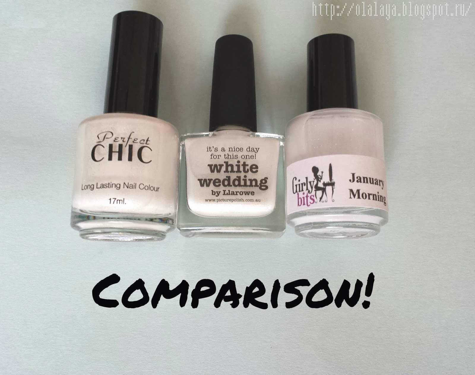 Picture polish, Girly bits, Perfect Chic