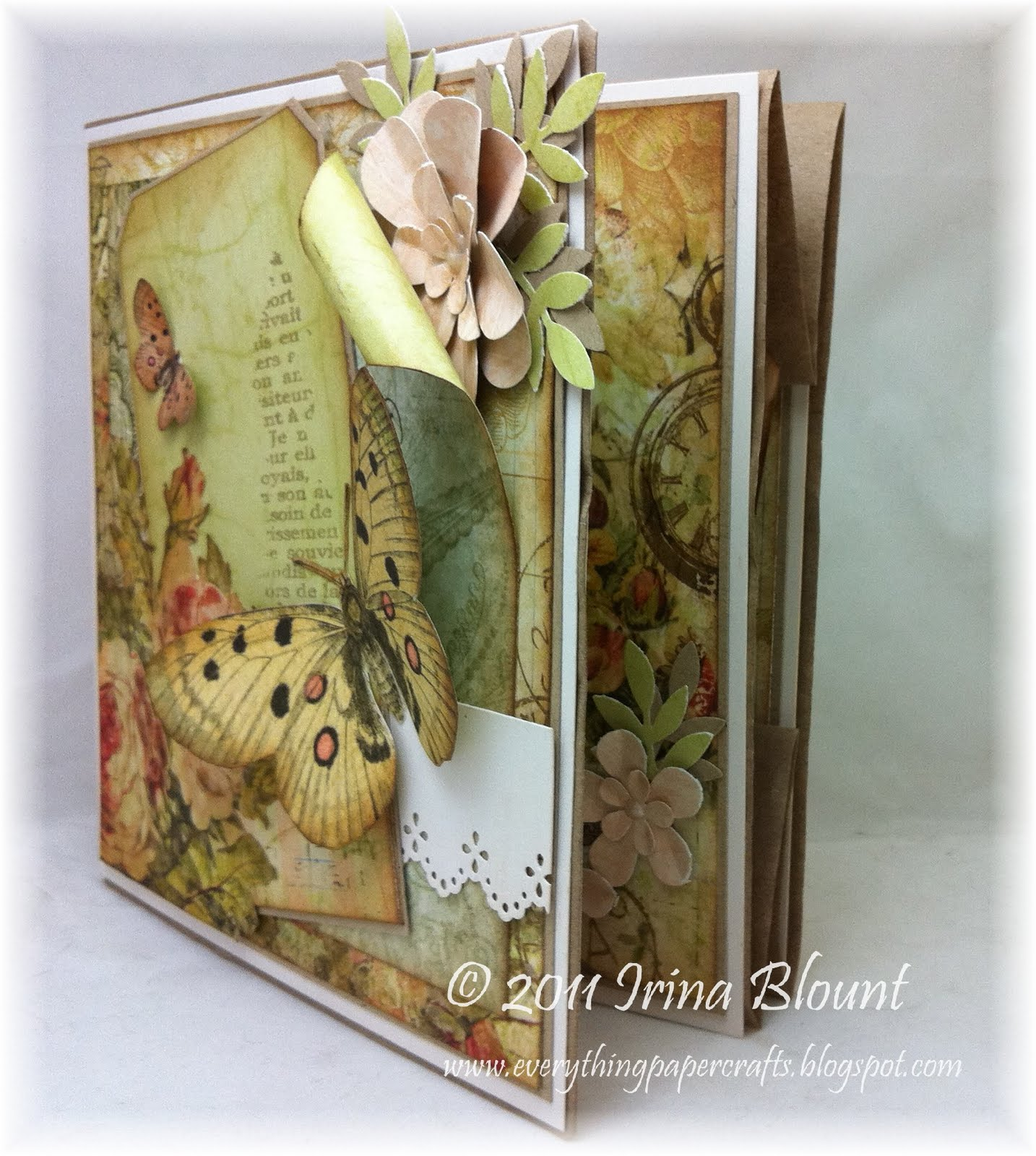 everything paper crafts  brown paper bag card