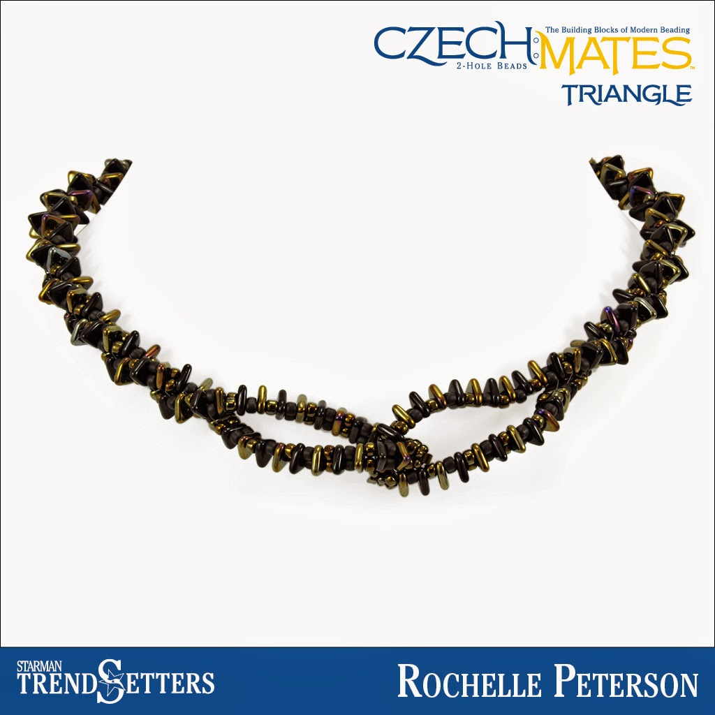 CzechMates Triangle necklace by Starman TrendSetter Rochelle Peterson