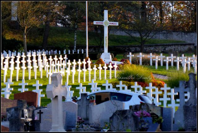 Tombes de soldats français cimetière des Gonards Versailles