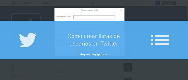 Cómo crear listas de usuarios en Twitter