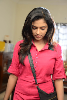 Cute amala paul in pink shirt