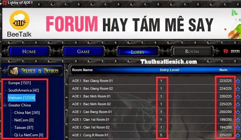 Hướng dẫn chơi đế chế AOE 1 Online với Garena+
