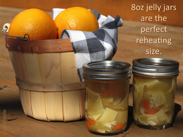 nwafoodie chicken soup friend jelly jars sick