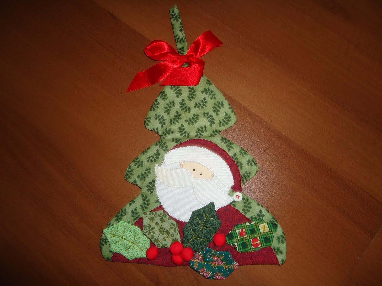Enfeite De Natal ~ FELTRO E PATCH Enfeite de Natal para Porta
