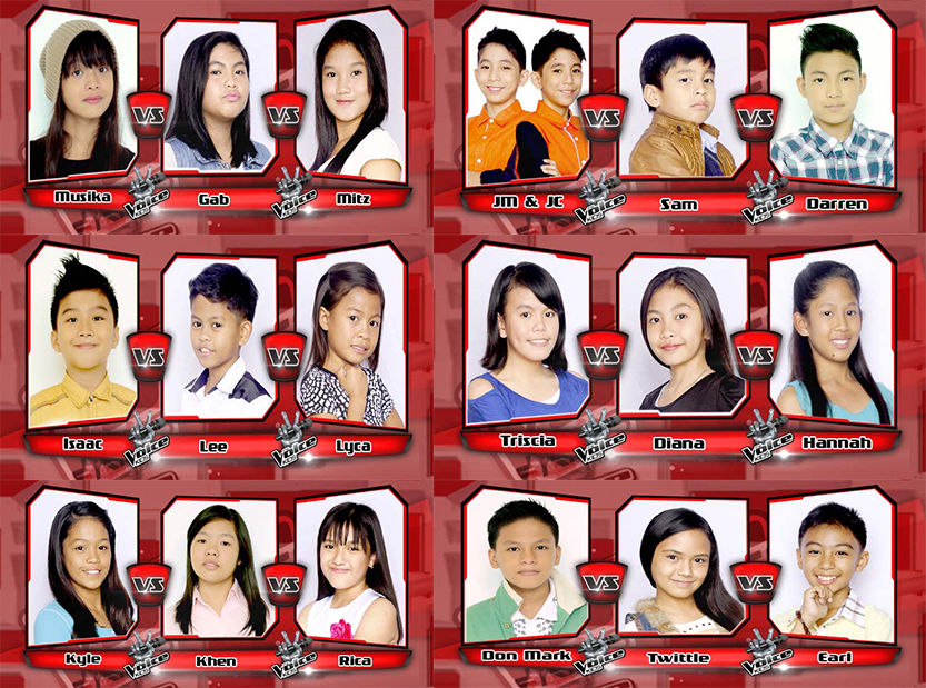 July 12 and 13 2014 recap results of The Voice Kids Philippines