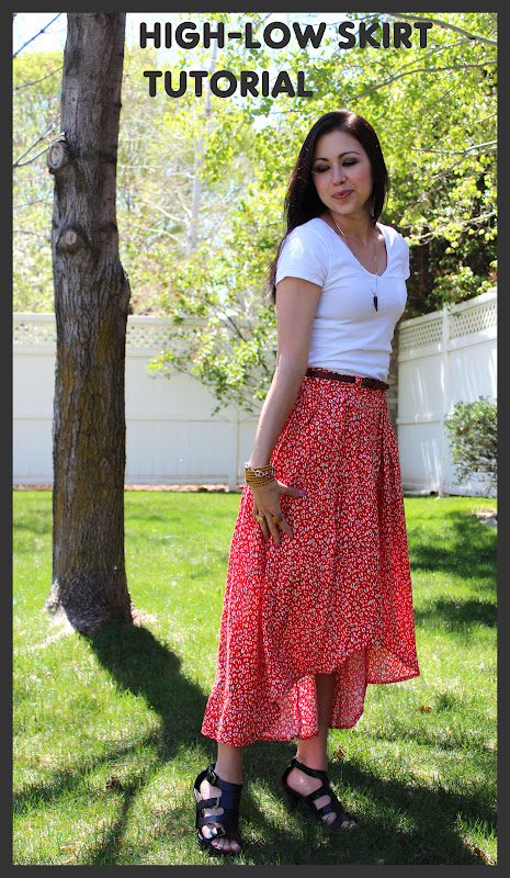 the high low skirt tutorial