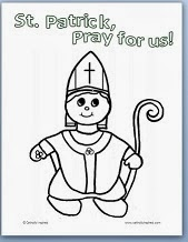cute st patrick from catholic inspired - St Patrick Coloring Page Catholic