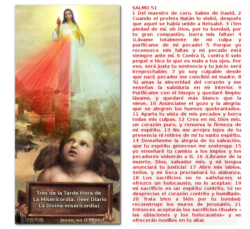 jesus misericordiosos con angelito recordando la hora de la misericordia y u n salmo