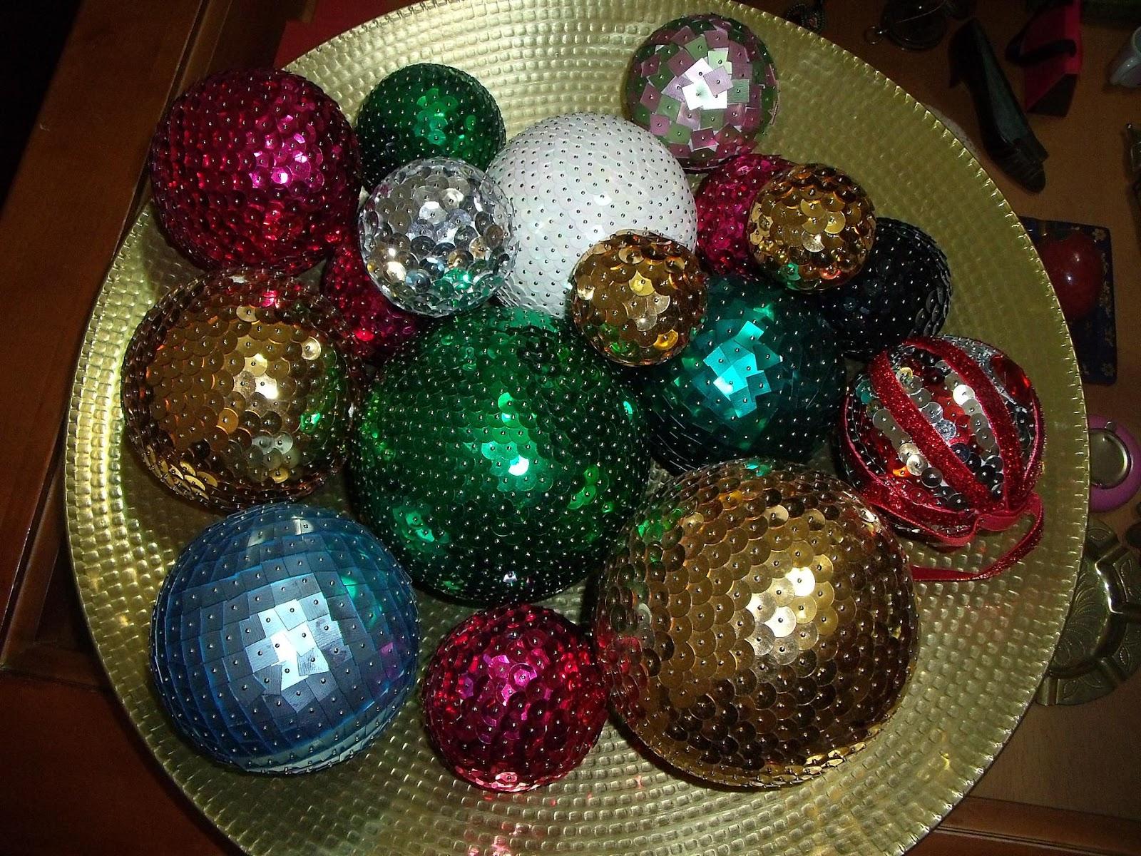 Manualizando mas bolas de navidad - Como hacer bolas para el arbol de navidad ...