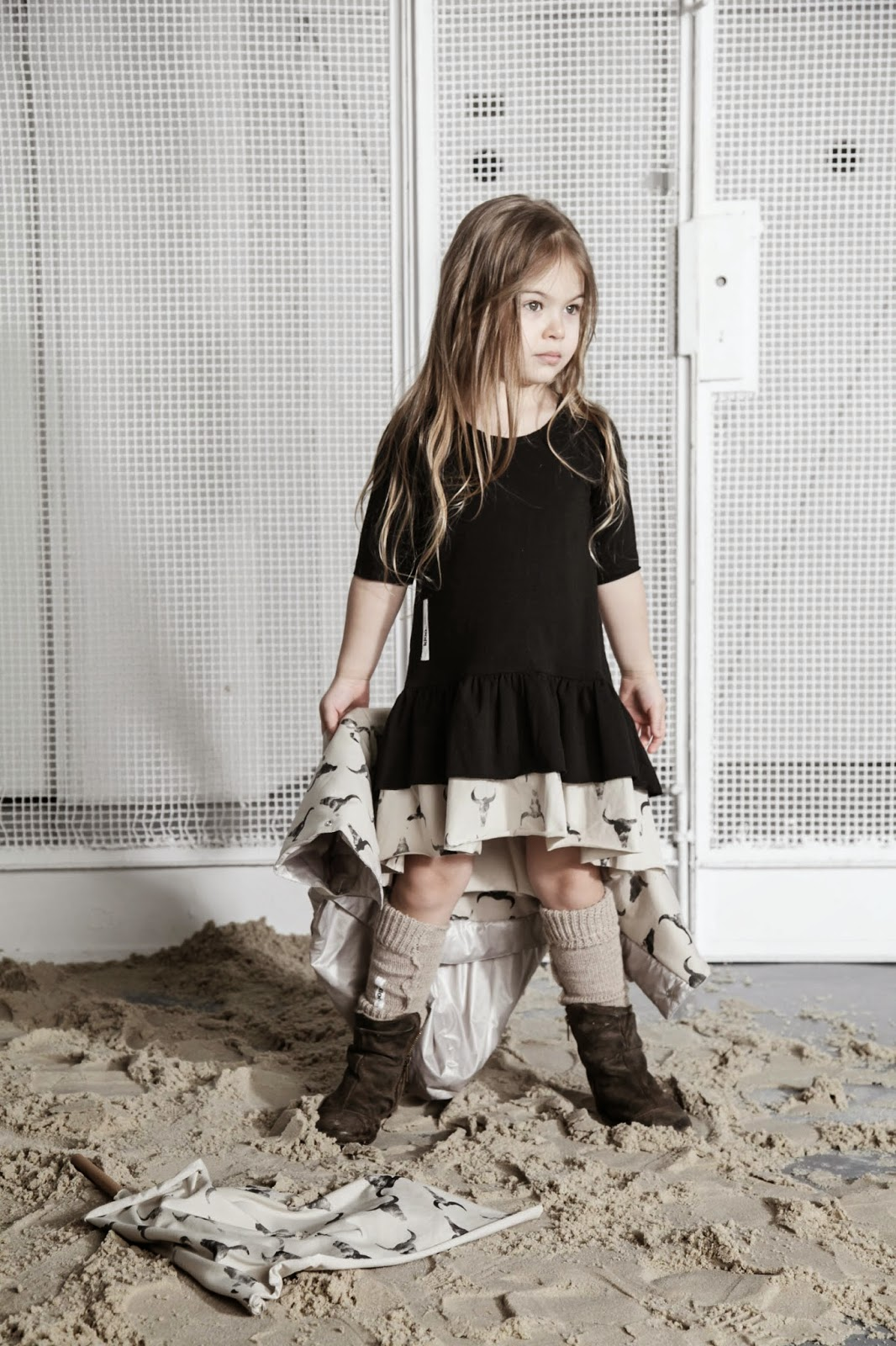 Kloo by Booso - Polish kids fashion spring-summer 2015 - black dress bull's heads