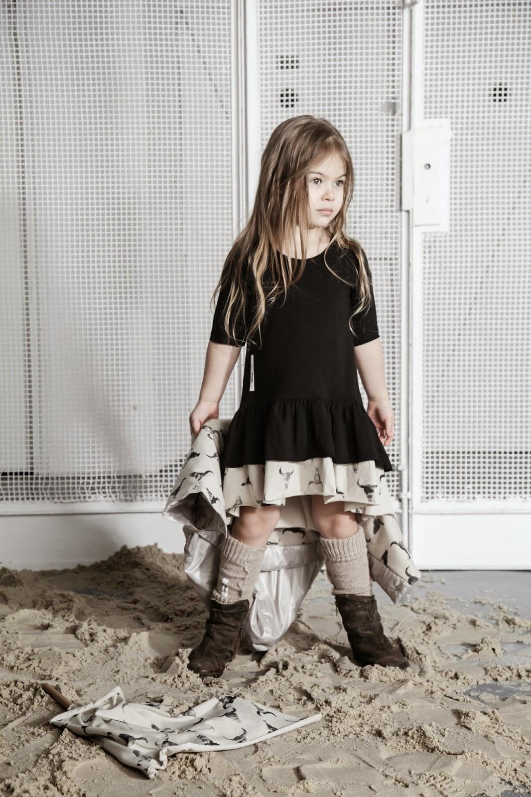 Kloo by Booso - Polish kids fashion spring-summer 2015 - black dress bull's heads